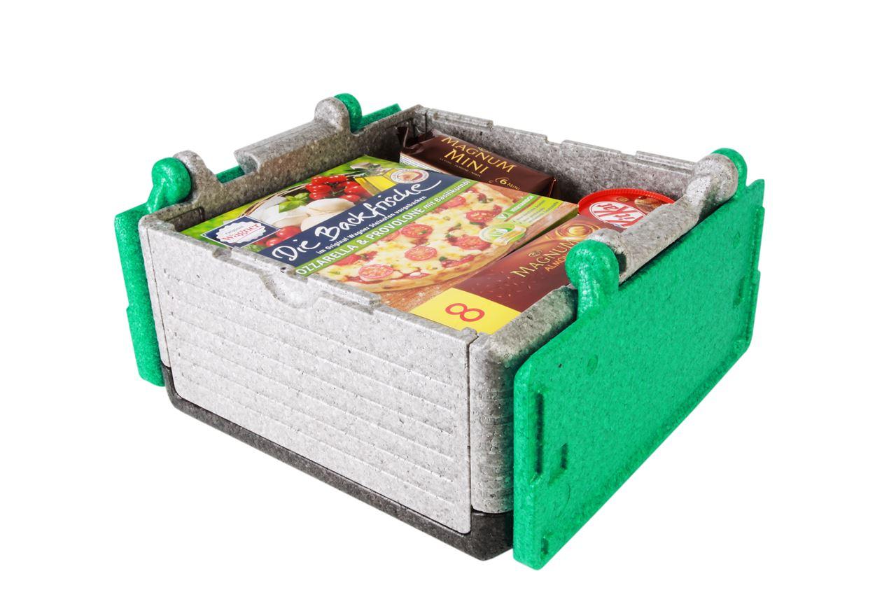 Flip-Box Classic Tricolor grün, klappbare Thermobox