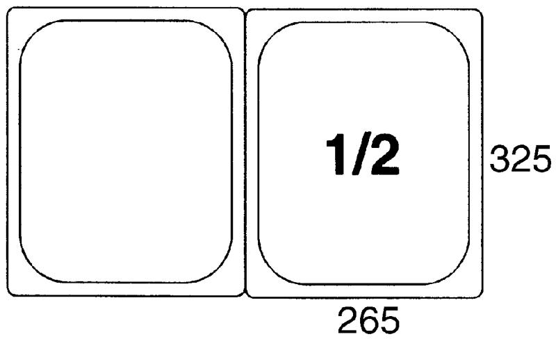 GN-Deckel 1/2, Polypropylen für Serie 5512/