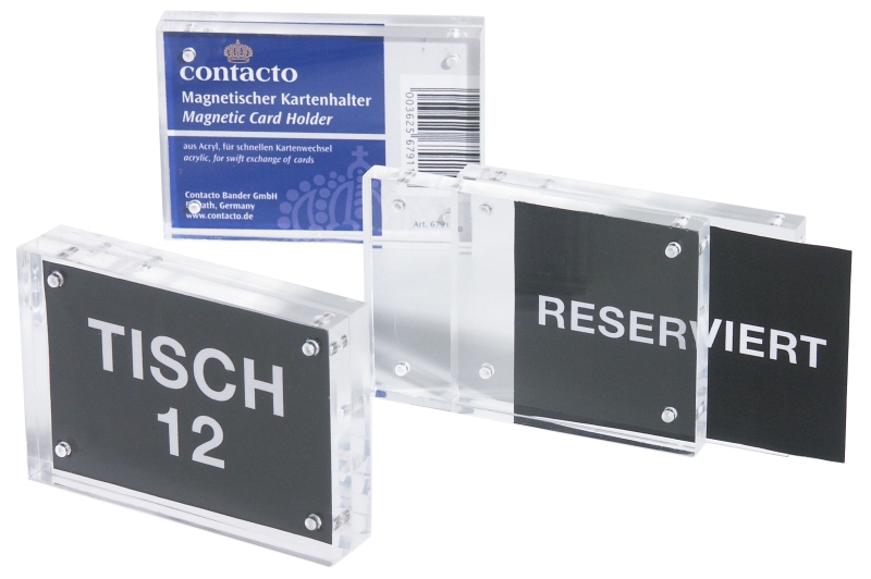 Acryl-Kartenhalter, magnetisch