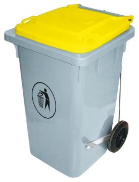 Abfalleimer 100 Liter, gelb