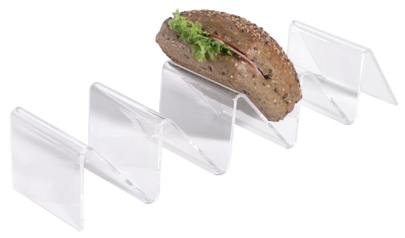 Snackablage, Acryl, 4 Fächer