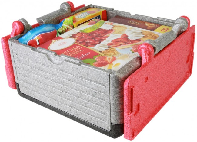 Flip-Box Classic Tricolor rot, klappbare Thermobox