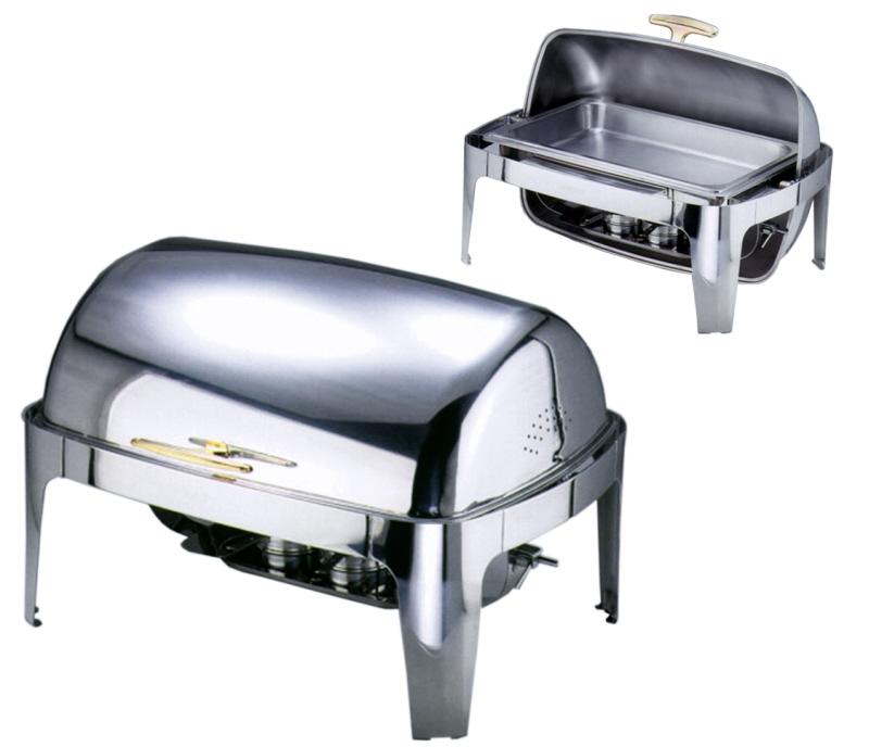 Roll-Top Chafing Dish mit elektrischer Heiz- platte (Art.7099/001)
