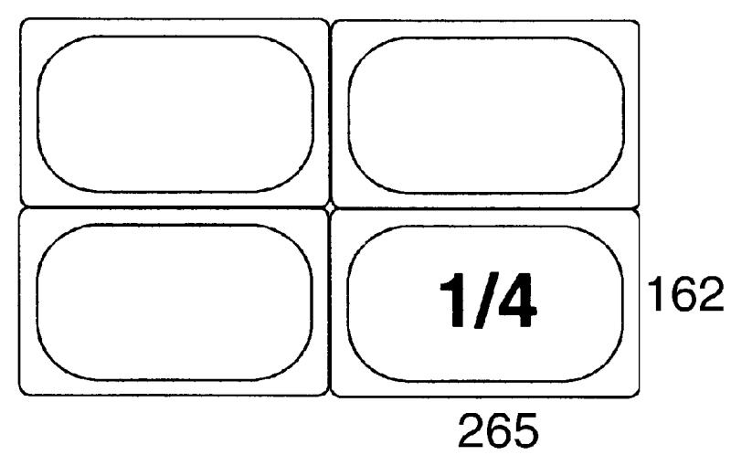 GN-Deckel 1/4, Polypropylen für Serie 5514/