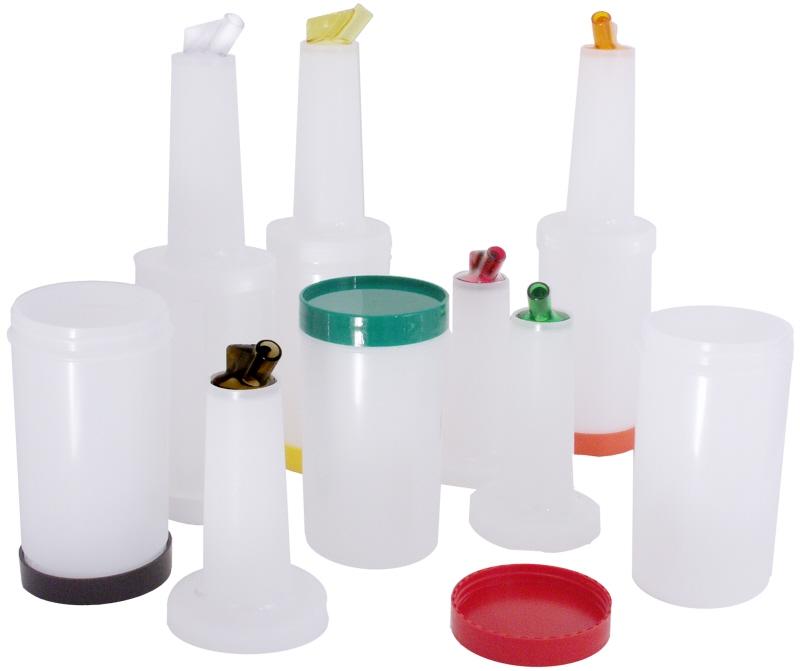 Getränkemix-/ Vorratsbehälter 1 l Ausguss & Deckel: GELB Behälter : Weiß