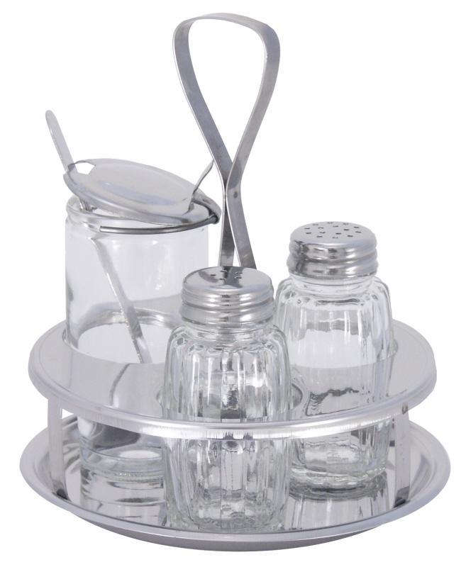 Ersatzglas für Senf mit Deckel und Löffel