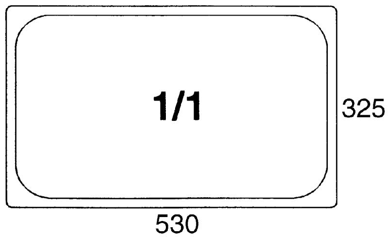 GN-Behälter 1/1, 65mm Polypropylen