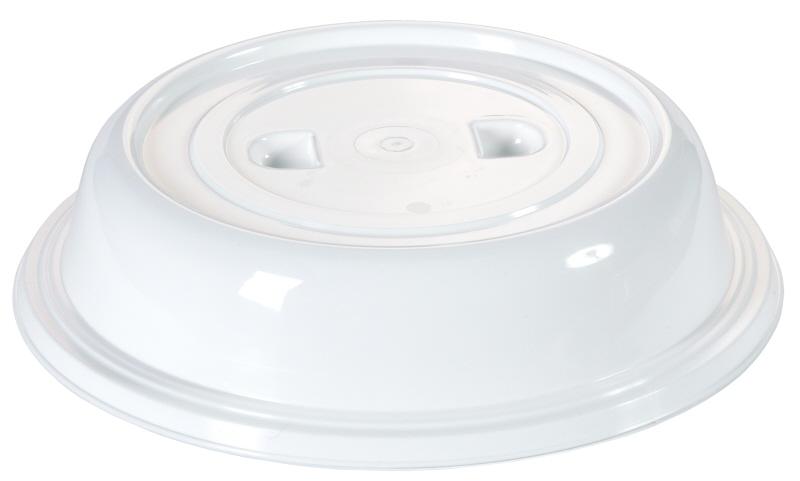 Tellerglocke 25,3 cm weiß ohne Griffloch, mit zwei Griffmulden