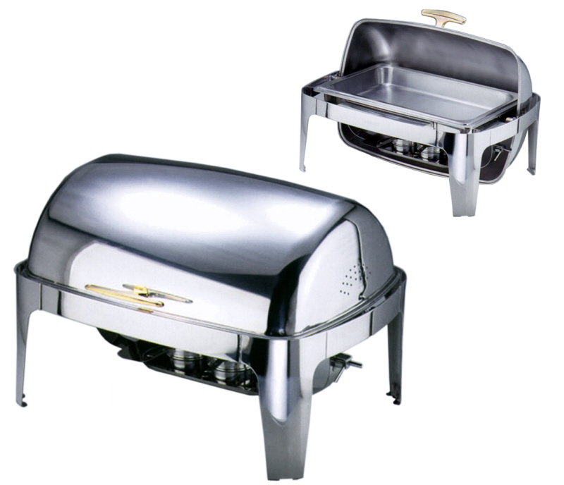 Chafing Dish mit Roll Top Deckel