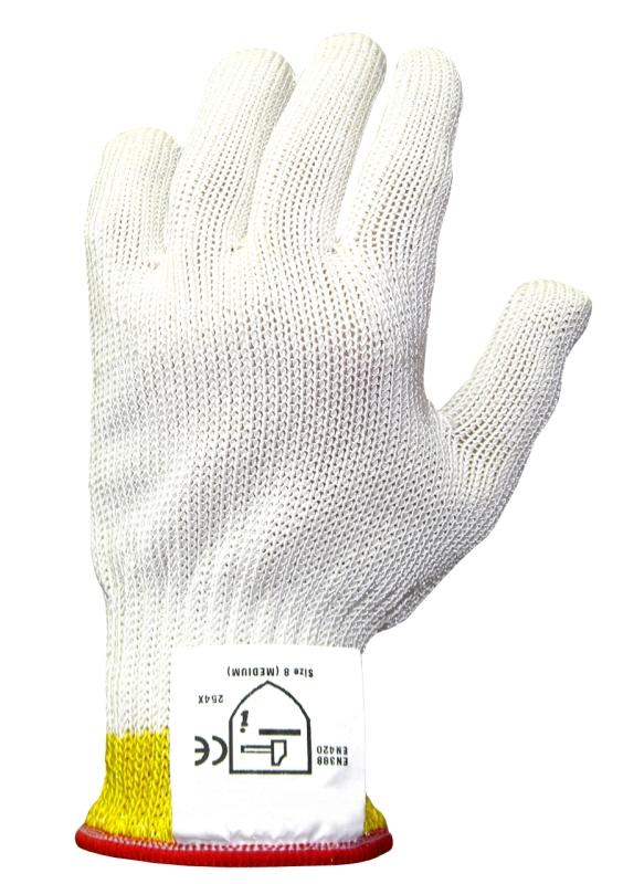 Schnittschutzhandschuh extra schwer, Größe S, einzeln (weiß)