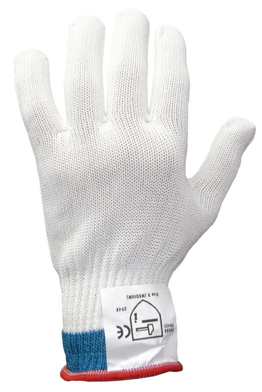 Schnittschutzhandschuh mittelschwer, Größe S, einzeln (weiß)