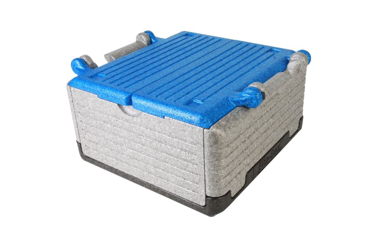 Flip-Box Classic Tricolor blau, klappbare Thermobox