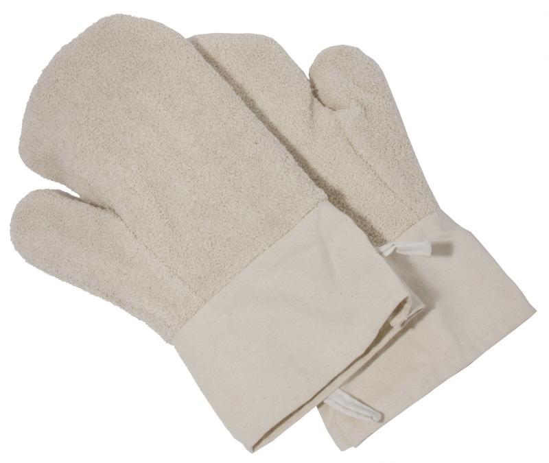 Paar Backhandschuhe 30 cm mit kurzer Stulpe