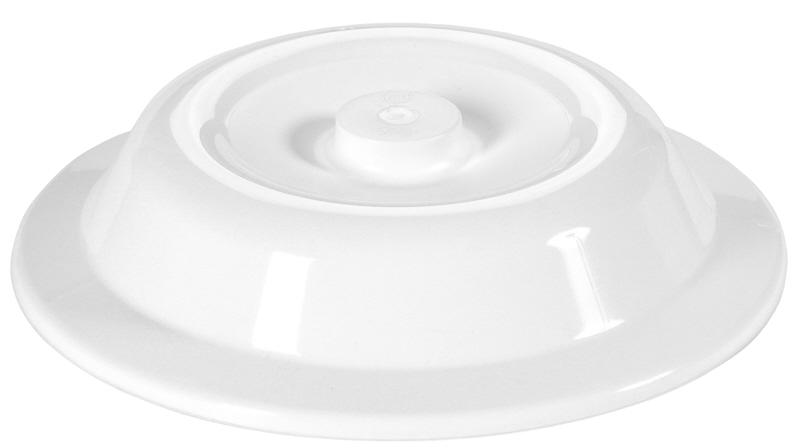 Tellerglocke 24,3 cm weiß mit Griffknopf, Höhe 50 mm