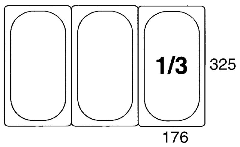 GN-Deckel 1/3, Polypropylen für Serie 5513/