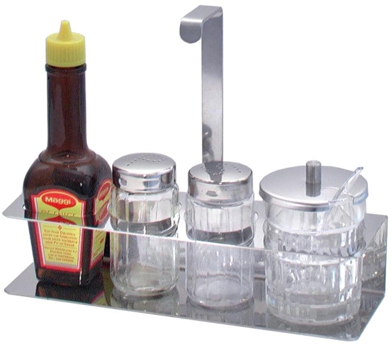 Ersatzglas Senf für Menage 666 mit Deckel und Löffel paßt auf 666/021,/004,/005